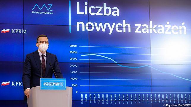 Konferencja premiera. Rząd przedstawił harmonogram znoszenia obostrzeń w maju