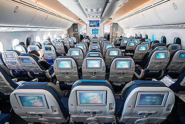 Wnętrze Boeing 787 Dreamliner