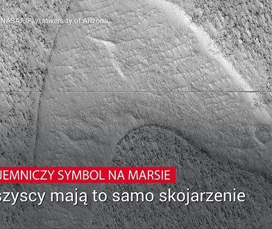 Dziwny symbol na Marsie. Internet zalały teorie spiskowe