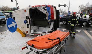 Wypadek karetki w Białymstoku