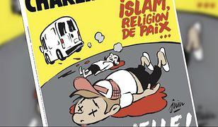 """""""Islam religią pokoju... wiecznego"""". Szokująca okładka """"Charlie Hebdo"""""""