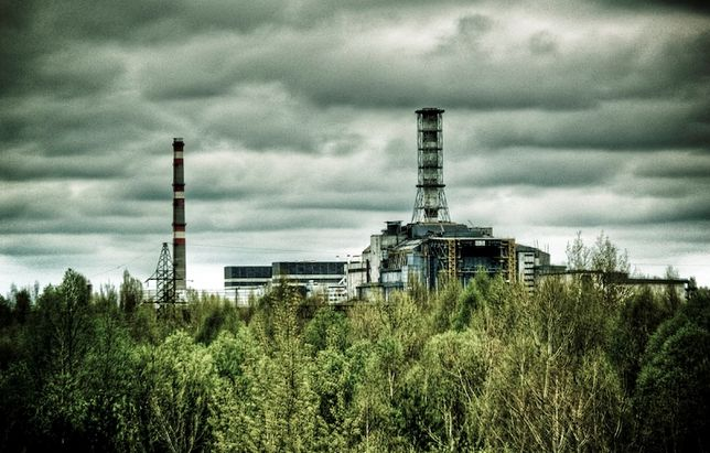 Czarnobyl - widok na elektrownię