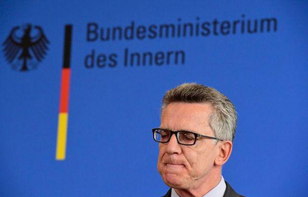 Szef MSW Niemiec Thomas de Maiziere 25 lipca