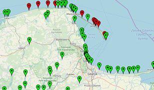 Mapka znajduje się na stronie www.sk.gis.gov.pl/index.php/kapieliska/mapa.