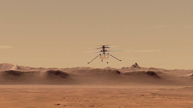 NASA pokazuje, jak będzie wyglądać misja helikoptera na Marsie