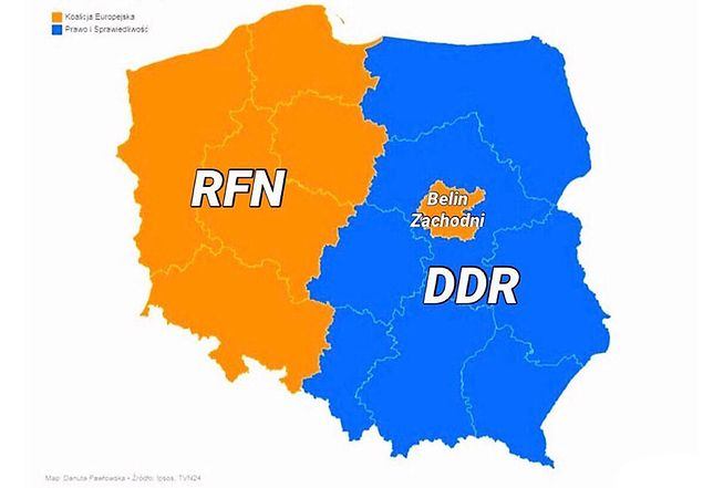"""RFN i NRD na grafice po wyborach. """"Woda na młyn Kaczyńskiego"""""""