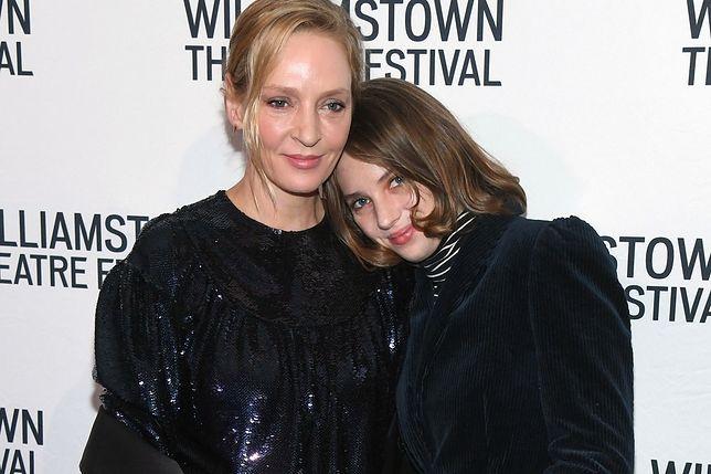 Uma Thurman z córką Mayą Hawke