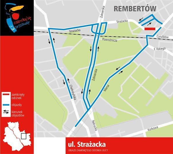 Gdzie spodziewać się weekendowych utrudnień? Zamknięta Strażacka i Warszawa Business Run