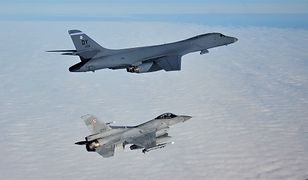 Polskie F-16 i amerykański B1-B.