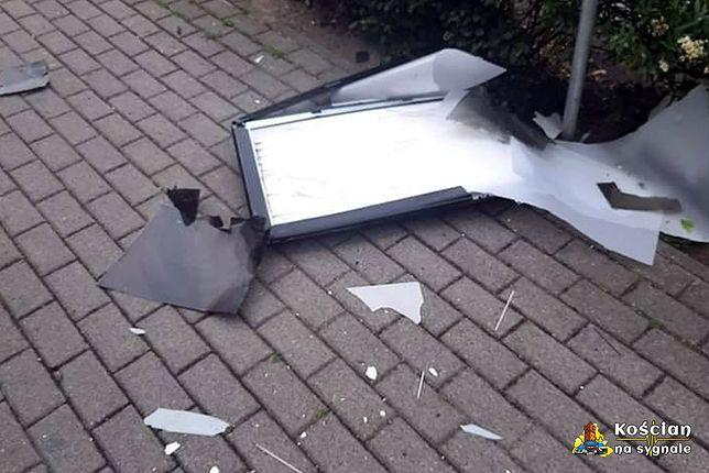 Telewizor wyrzucony z okna