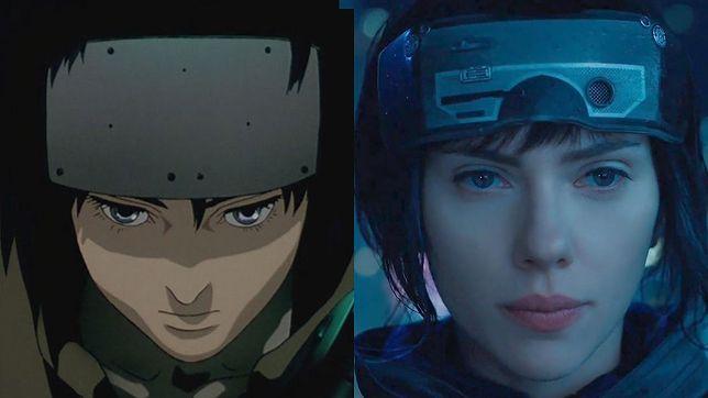 """Major Motoko Kusanagi, główna bohaterka """"Ghost in the Shell"""", w wersji oryginalnej i jako Scarlett Johansson"""