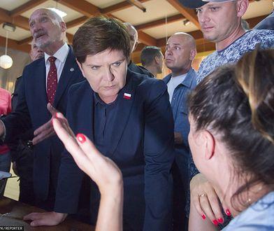 Była premier Beata Szydło odwiedziła mieszkańców Rytla w połowie sierpnia 2017 roku