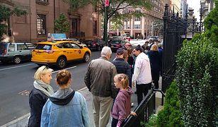 Wybory 2019. Kolejka wyborców przed siedzibą Konsulatu RP w Nowym Jorku. Polacy w USA zakończyli głosowanie o godz. 3 czasu polskiego