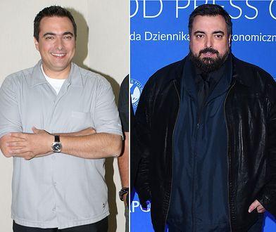 Tomasz Sekielski w 2007 r. (po lewej) i w 2019 r. kilka miesięcy przed zmniejszeniem żołądka