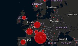 Koronawirus w Europie. Rośnie liczba ofiar