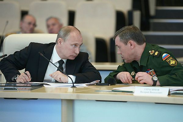 Władimir Putin i Valery Gerasimov
