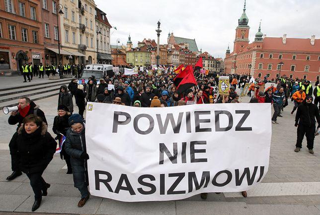 """""""Powiedz NIE rasizmowi"""". Wiec antyrasistowski w Warszawie"""