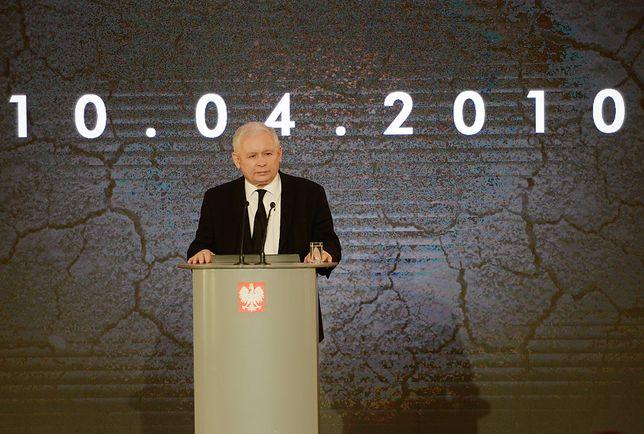 Jarosław Kaczyński przemawia w 7. rocznicę katastrofy smoleńskiej