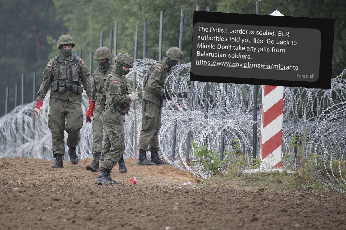SMS-y do migrantów na granicy z Białorusią. Media: Dostali je także Polacy