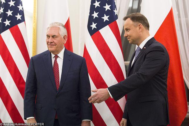 Prezydent Duda gościł Tillersona w Warszawie w styczniu. W lutym nie chciał rozmawiać z nim przez telefon
