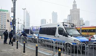 Strajk Kobiet 8 marca. Mobilizacja policji w Warszawie