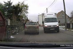 Kamera nagrała poślizg wielką ciężarówką z punktu widzenia kierowcy