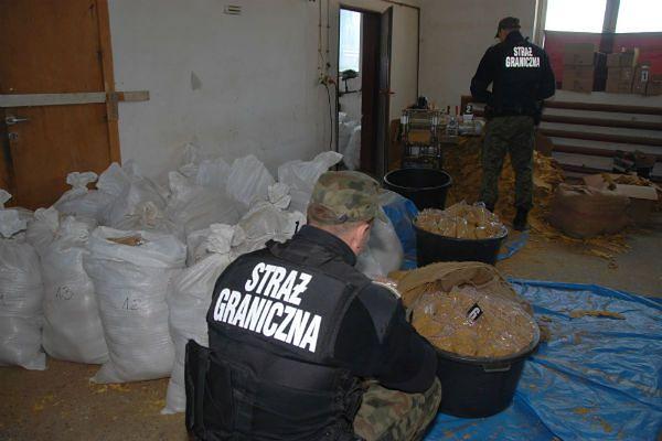 """Straż graniczna odkryła nielegalną fabrykę tytoniu. """"Chciał sprzedać 1,5 tony suszu"""""""