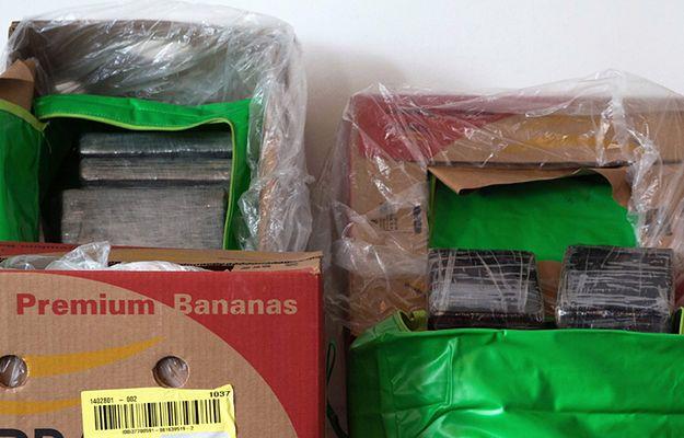 Kokaina odkryta w supermarketach wśród bananów