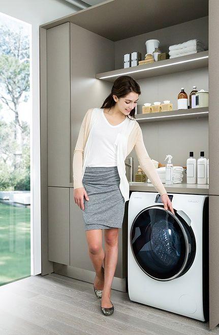 Przełom w praniu z linią pralek Samsung Crystal Blue