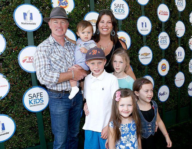 Neal McDonough z rodziną w 2015 r.
