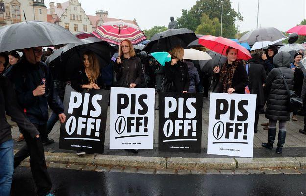 """""""Czarny protest"""" w Poznaniu"""
