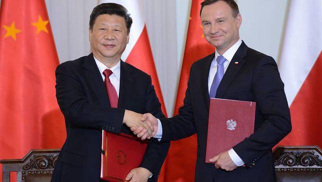 Prezydenci Polski i Chin na spotkaniu w Warszawie w 2016 roku