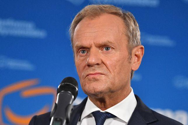 """Sondaż dla WP. """"Efekt Tuska"""" minął? KO ma powody do zmartwienia. Na zdjęciu Donald Tusk, p.o. przewodniczącego Platformy Obywatelskiej"""