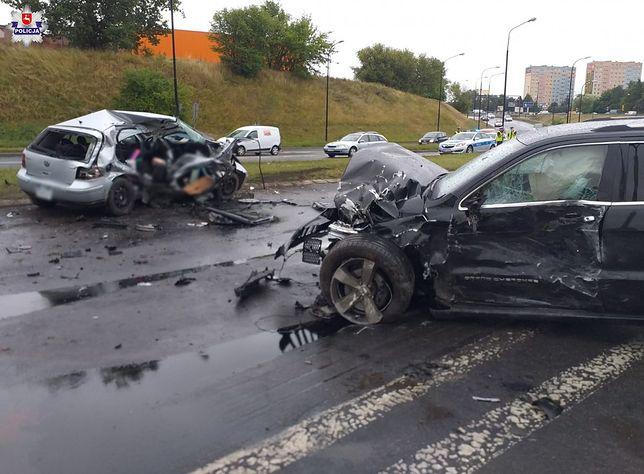 Lublin. Wypadek na al. Witosa. Ranne dzieci i dorośli
