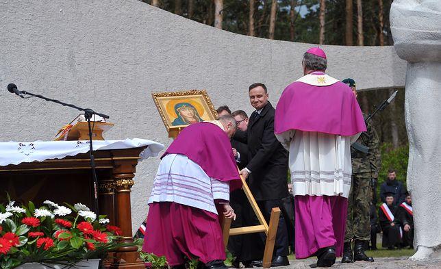 Andrzej Duda podczas uroczystości w Siekierkach