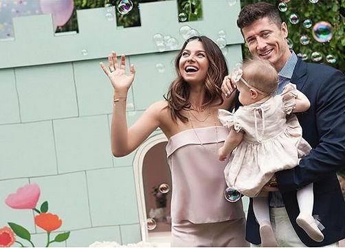 Tak rodzina Lewandowskich świętowała roczek Klary
