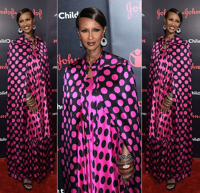 Iman podczas Save The Children Illumination Gala