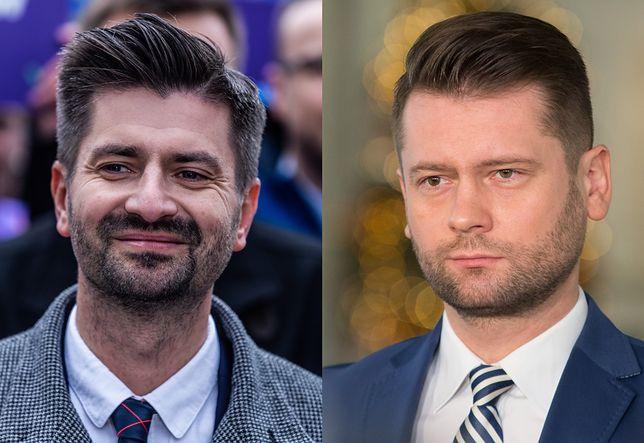 Krzysztof Śmiszek z Wiosny i Kamil Bortniczuk z Porozumienia