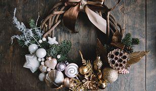Ręcznie robione stroiki na Boże Narodzenie