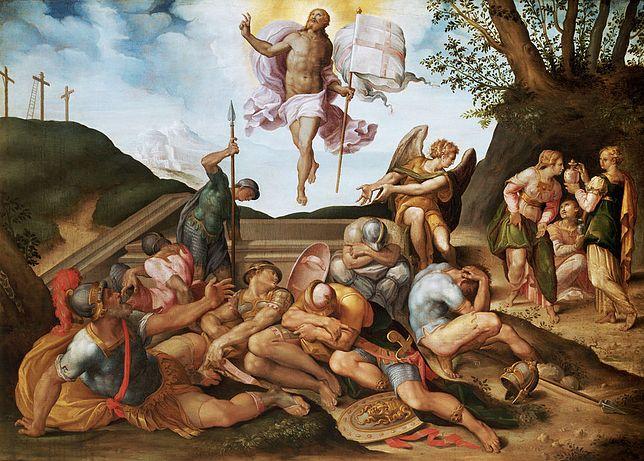 Zmartwychwstanie Chrystusa, obraz z XVI w., szkoła florencka