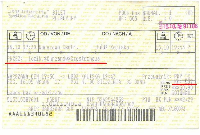 Z Warszawy do Łodzi przez Częstochowę?