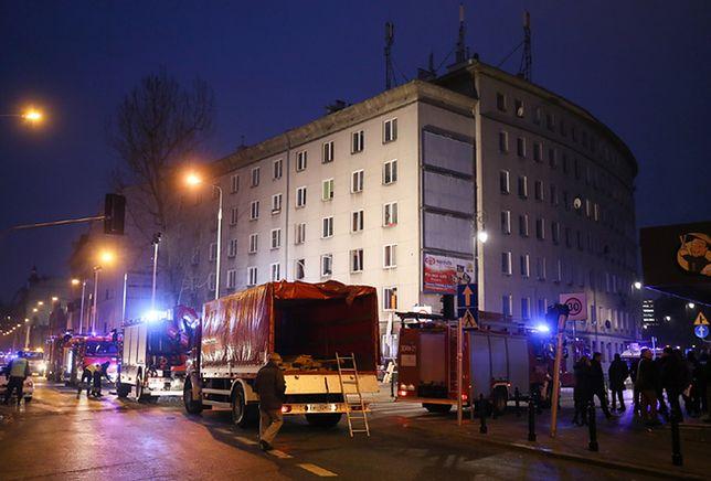 Nagranie z monitoringu: tak wyglądał wybuch gazu w warszawskiej kamienicy