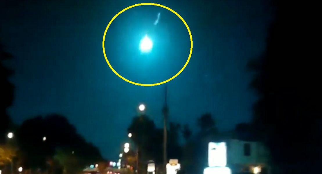 Asteroida spłonęła w atmosferze i rozświetliła niebo. Nikt nie wiedział, że nadciąga