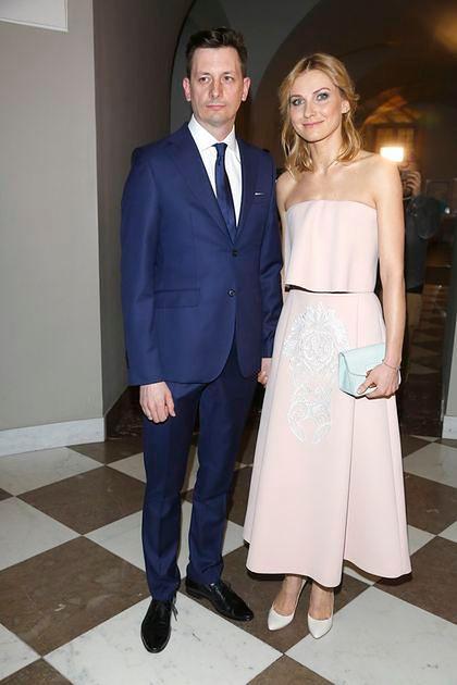 Joanna Moro z mężem