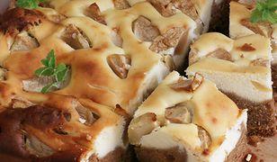 Ciasto kawowe z sernikiem i jabłkami. Obłędny deser