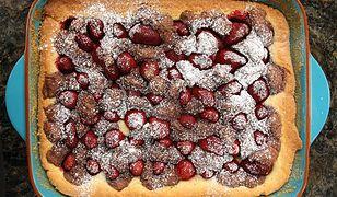 Ciasto z truskawkami. W sam raz na koniec sezonu