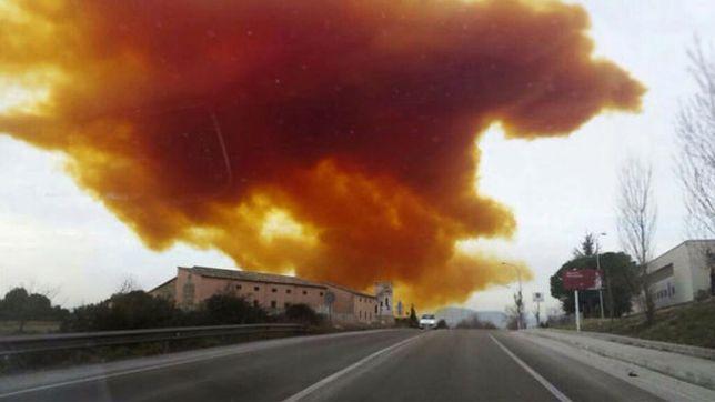 Eksplozja w Hiszpanii. Toksyczna chmura nad Katalonią