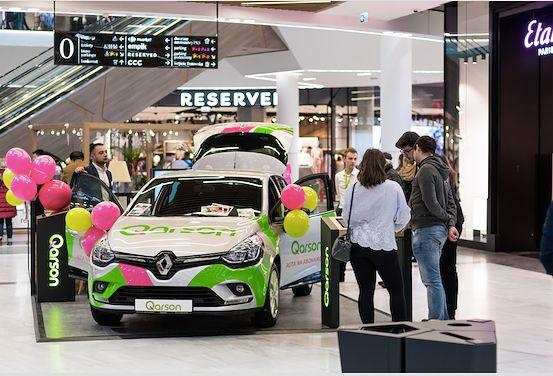 Qarson jako pierwszy wprowadza nowy model sprzedaży  aut na abonament w centrach handlowych