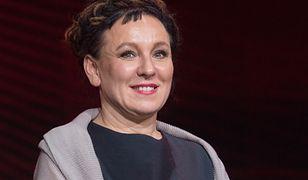 Warszawa. Olga Tokarczuk na gali rozdania nagród Paszporty Polityki 2019. 14 stycznia br.