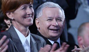 Minister Elżbieta Rafalska i prezes PiS Jarosław Kaczyński.